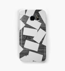 white sheets of paper scattered  Samsung Galaxy Case/Skin