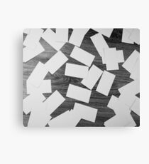 white sheets of paper scattered  Canvas Print
