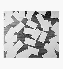 white sheets of paper scattered  Photographic Print