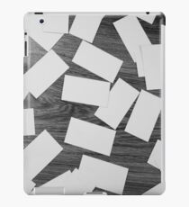 white sheets of paper scattered  iPad Case/Skin