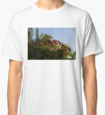 Palm Trees and Tropical Flowers Classic T-Shirt