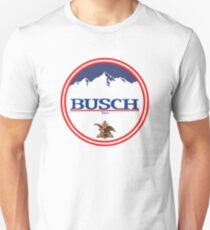 buschlight, busch light, busch, beer, drink, mountain, pub, logo, symbol. Unisex T-Shirt