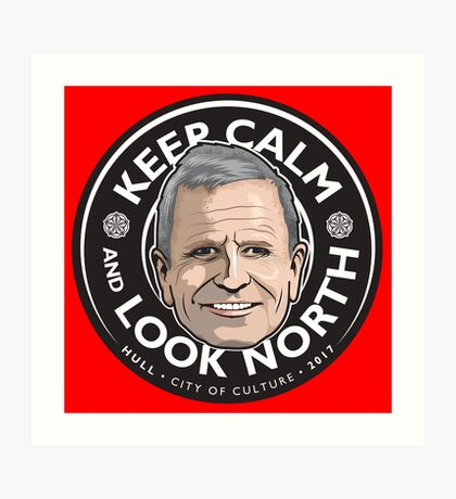 Keep Calm with Peter Levy Art Print