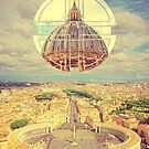 Geometric Vatican St Peter's Square Basilica Dome Italy Rome by Beverly Claire Kaiya