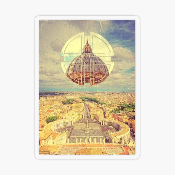 Geometric Vatican St Peter's Square Basilica Dome Italy Rome Transparent Sticker