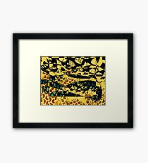 Camuflage cat - black and yellow - by Ana canas Framed Print