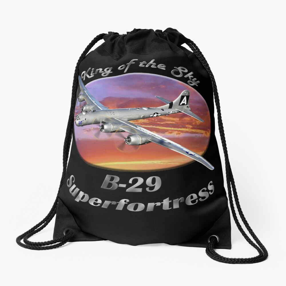 B-29 Superfortress King Of The Sky Drawstring Bag