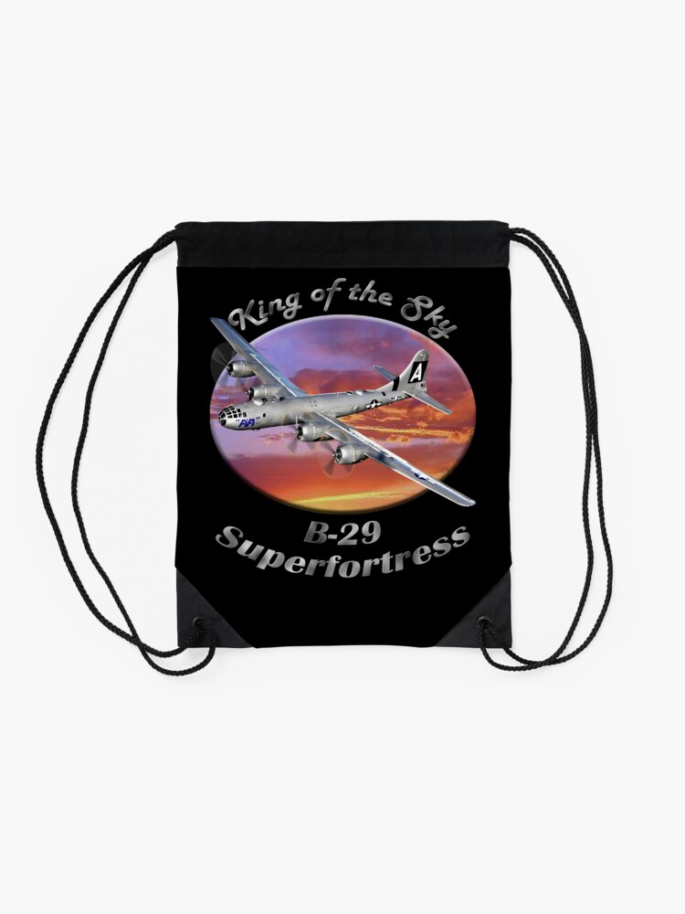 Alternate view of B-29 Superfortress King Of The Sky Drawstring Bag