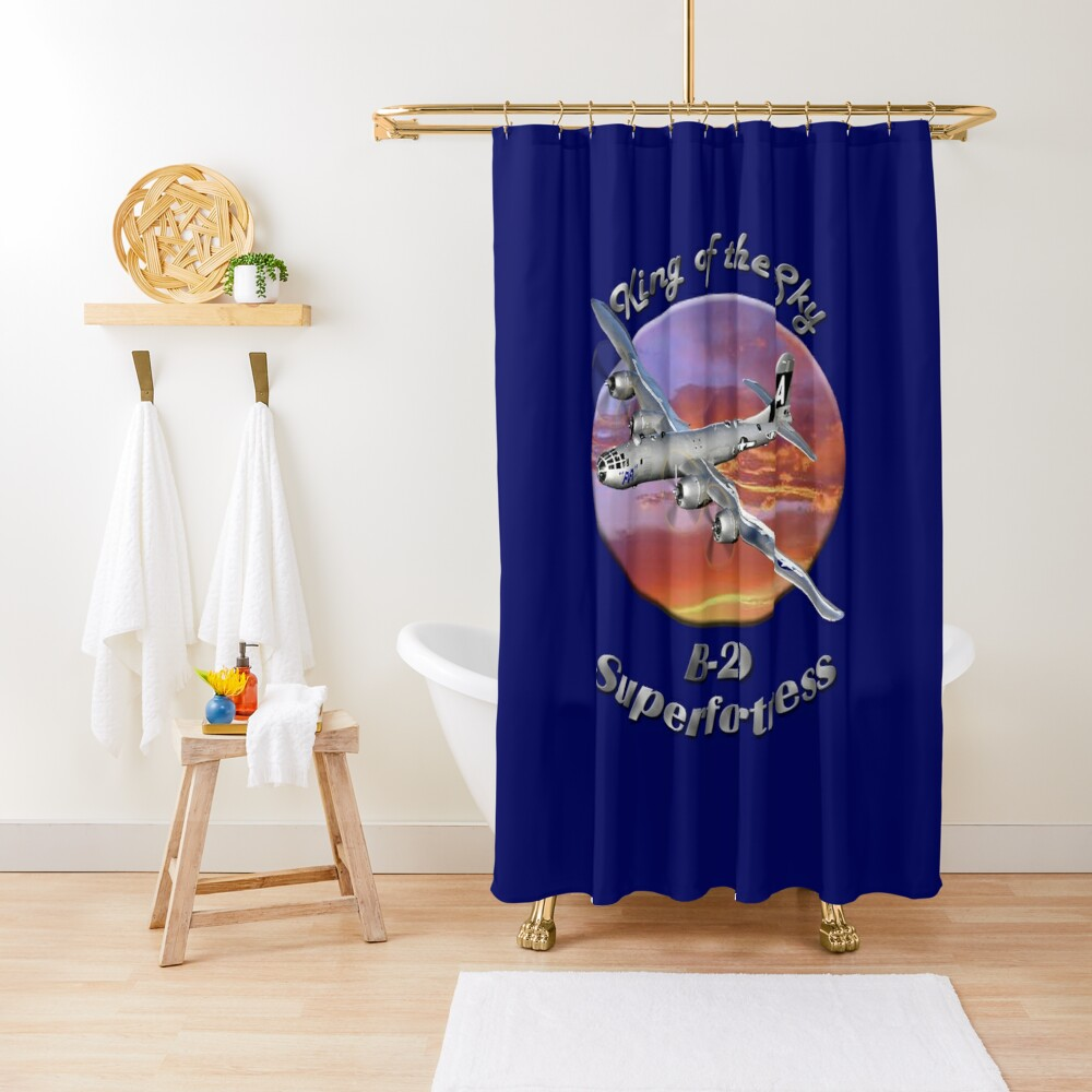 B-29 Superfortress King Of The Sky Shower Curtain
