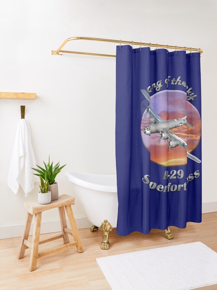 Alternate view of B-29 Superfortress King Of The Sky Shower Curtain
