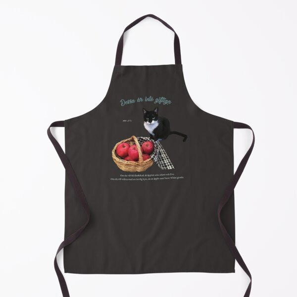 Apple and cat. Apron