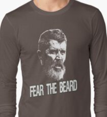 Roy Keane: Fear The Beard Long Sleeve T-Shirt