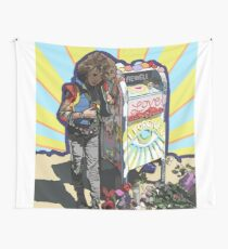The Girl at The Mailbox Wall Tapestry