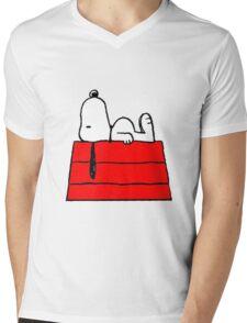 sleeping snoopy huft Mens V-Neck T-Shirt