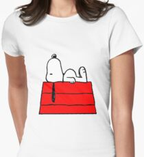 sleeping snoopy huft Womens Fitted T-Shirt