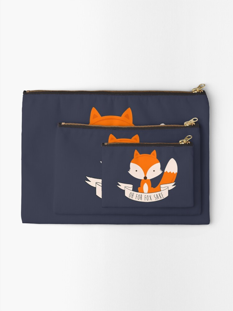 Alternate view of Oh For Fox Sake Zipper Pouch