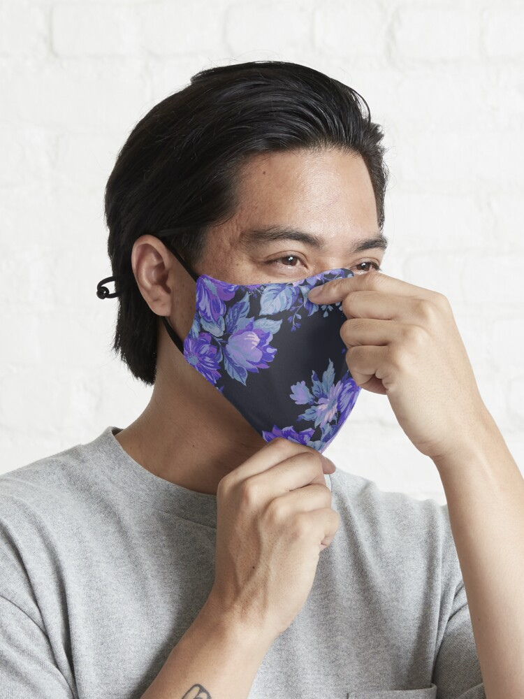 Alternate view of Midnight Floral Pattern Mask