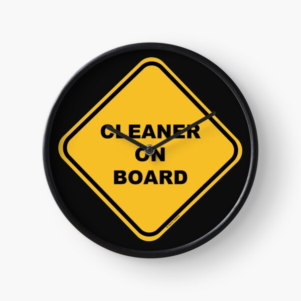 Cleaner on Board Cleaning Crew Gifts, Housekeeping Humor Clock