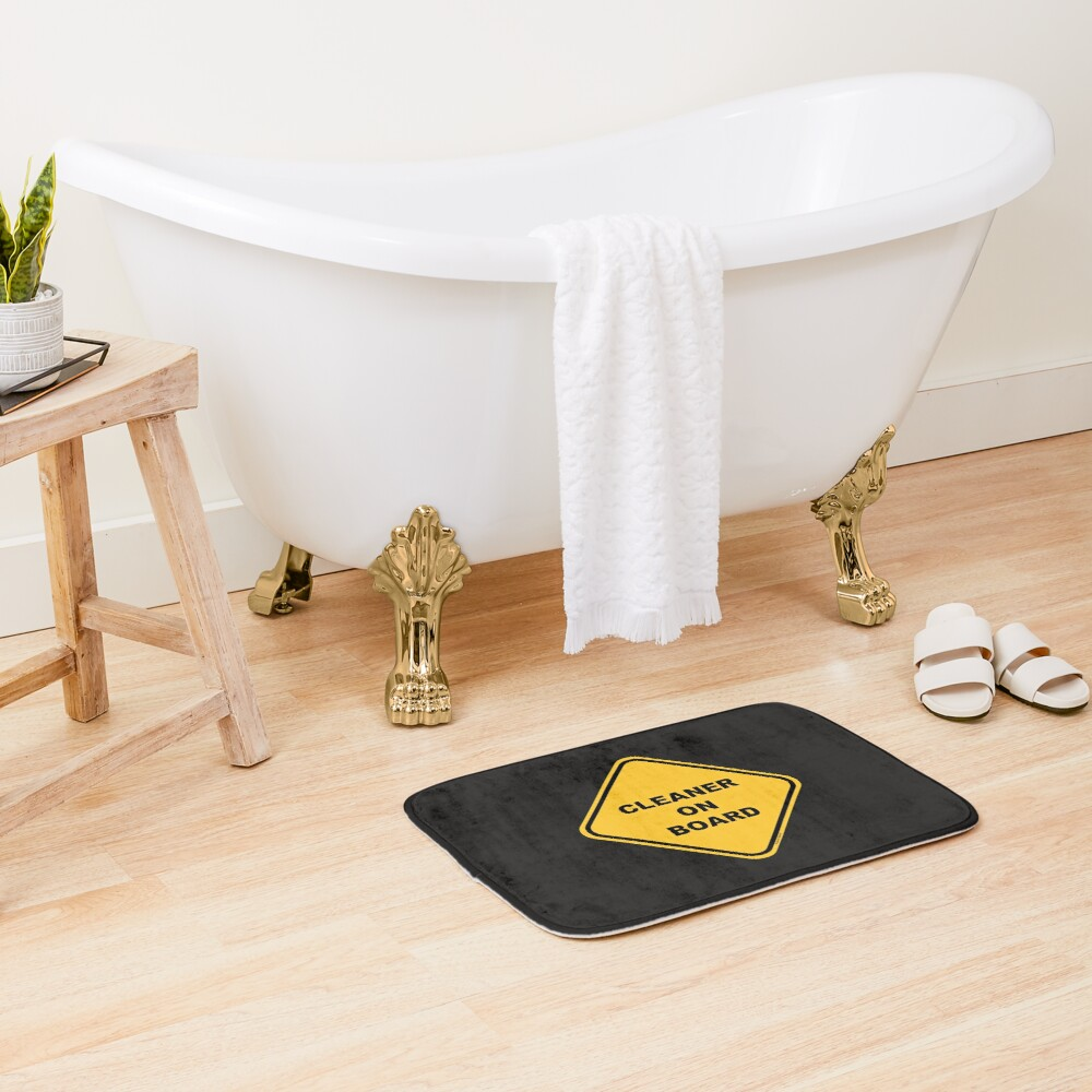 Cleaner on Board Cleaning Crew Gifts, Housekeeping Humor Bath Mat