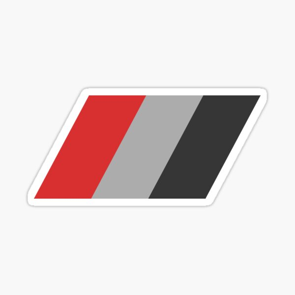 'Audi Sport Flag' T-Shirt for Audi owner or a fan Sticker