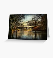 Whitchurch on Thames Toll Bridge Greeting Card