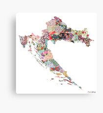 Croatia map Canvas Print