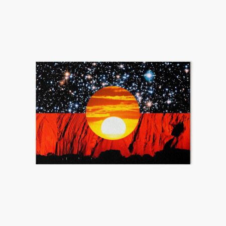 Distressed Aboriginal Flag Art Board Print
