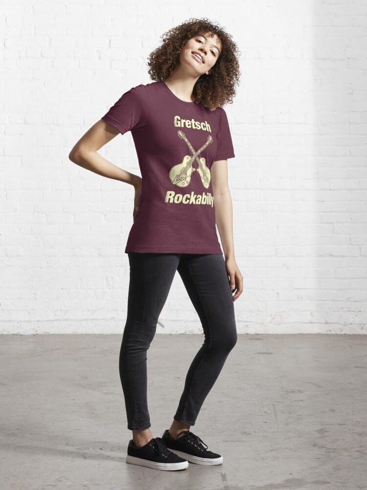 Alternate view of Old Gretsch Rockabilly Essential T-Shirt