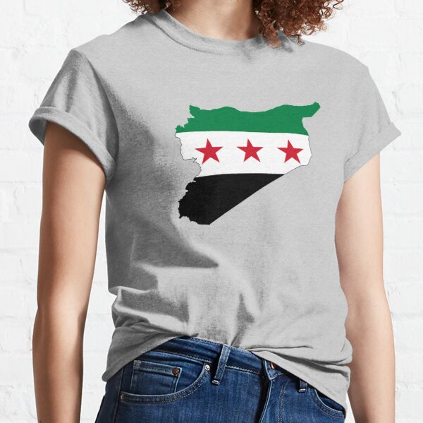 Flag Map of Syria Classic T-Shirt