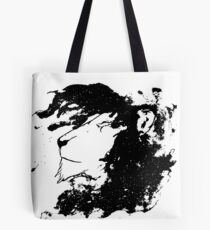 black lion portrait Tote Bag