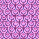 Fan repeat in purple by Edward Huse