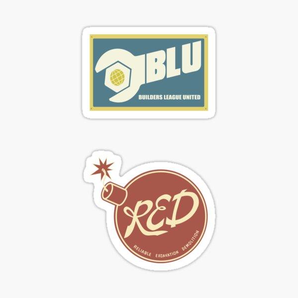 RED & BLU Sticker