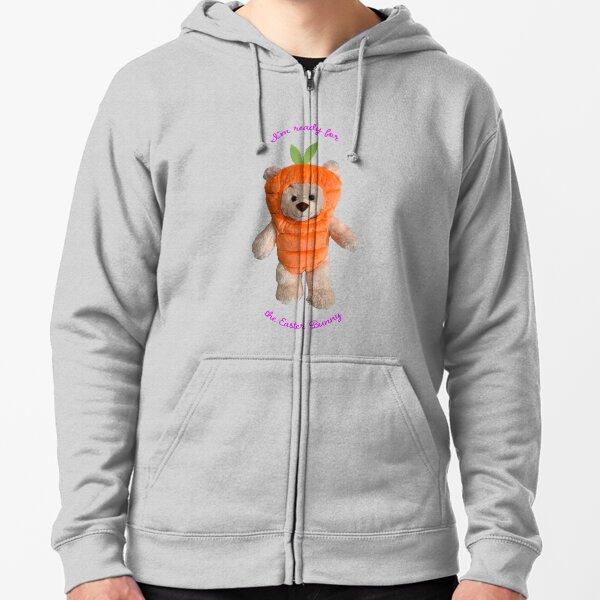 Teddy Bear In Carrot Costume Zipped Hoodie