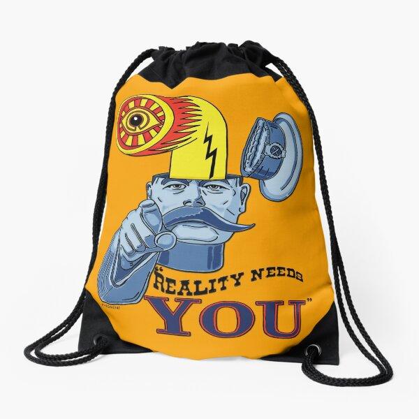 REALITY NEEDS YOU - LARGE GRAPHIC VERSION Drawstring Bag