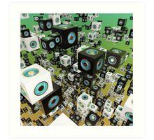 Cube Array Art Print