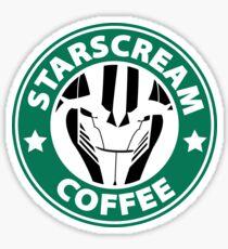 Starscream Coffee Sticker