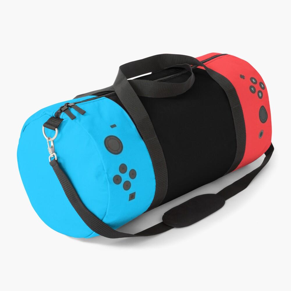 Nintendo Switch Red Blue Controller Gamer Gaming Inspired Design Duffle Bag