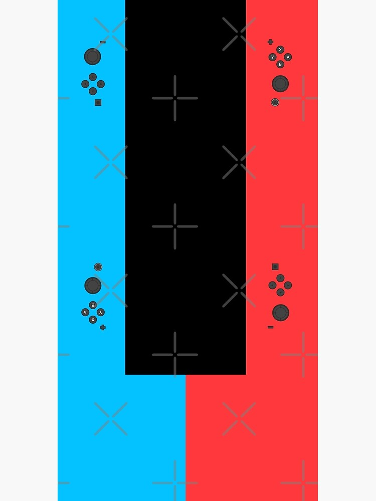 Nintendo Switch Blue Red Game Gaming Gamer Fitted Face Mask Design  by strangebird2014
