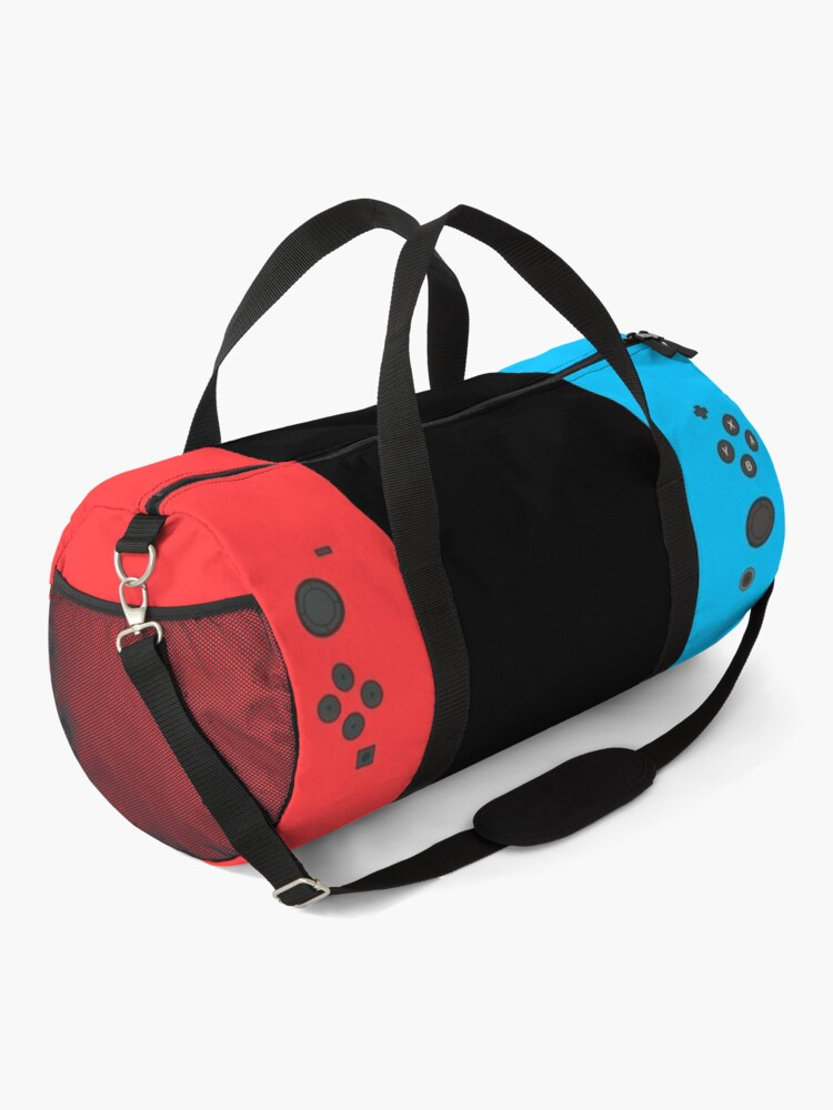 Alternate view of Nintendo Switch Blue Red Game Gaming Gamer Fitted Face Mask Design  Duffle Bag