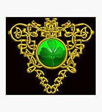 ST. PATRICK'S CELTIC HEART WITH GREEN SHAMROCK Photographic Print