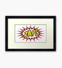 Zap Cartoon pop art Framed Print