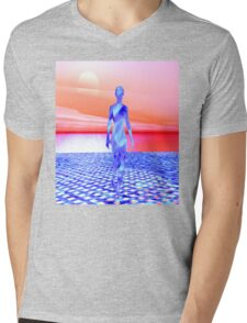 Ocean Sunrise Mens V-Neck T-Shirt