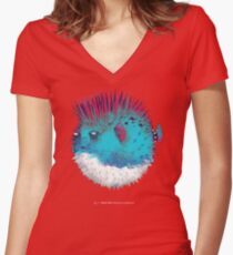 Punk Fish Women's Fitted V-Neck T-Shirt