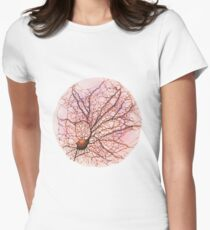 Dendritic tree and spines of an hippocampal neuron - watercolour - Pink Women's Fitted T-Shirt