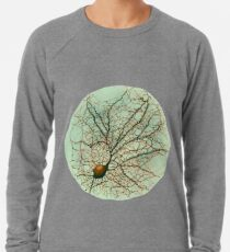 Dendritic tree and spines of an hippocampal neuron - watercolor - green Lightweight Sweatshirt