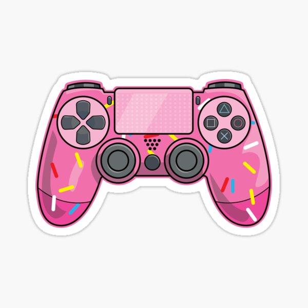 Pink Donut Sprinkled Video Game Controller Sticker