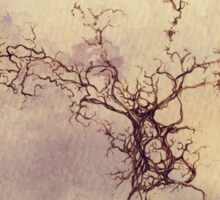 Olfactory bulb neuron - pencil and watercolor Sticker