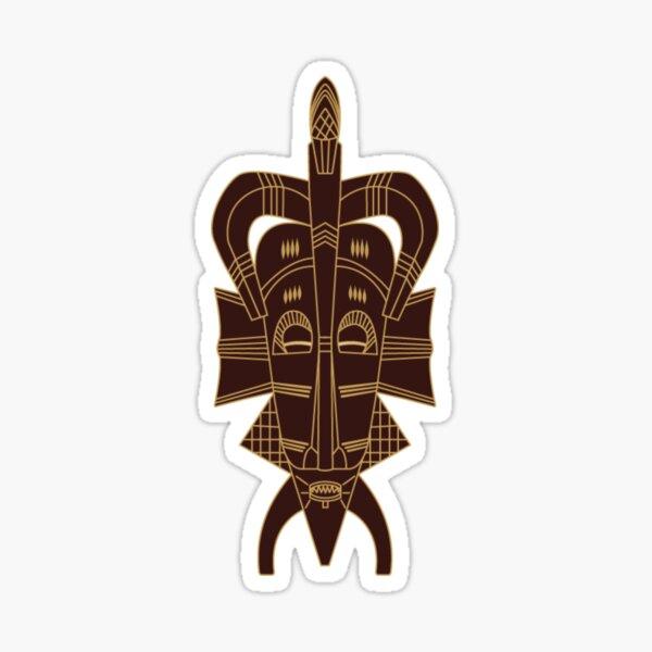 Senufo Mask brown 2 - Ivory Coast Sticker