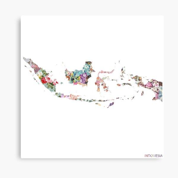 Indonesia map Metal Print