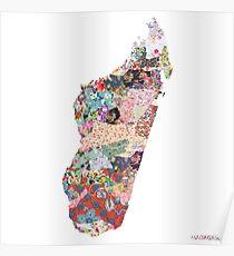 Madagaskar Karte Poster